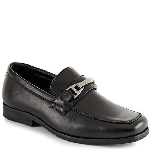 boys black dress shoes